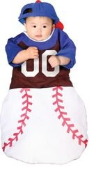 [Home Run! Bunting Costume: Baby's Size Birth-6 Months] (Baseball Catcher Halloween Costume)