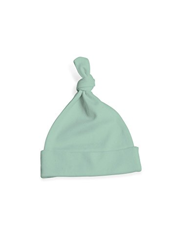 Colored Organics Baby Organic Knotted Hat 6-12 Months Seafoam Green