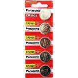 - Panasonic CR2025 3V Lithium Battery 1PACK X (5PCS) =5 Single Use Batteries
