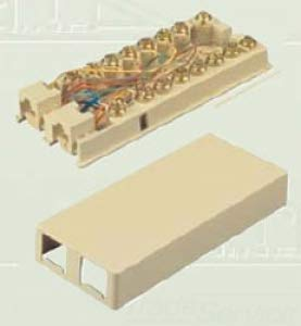 (Allen Tel Products AT666 6 Position, 6 Conductor Modular Duplex Surface Jack, Ivory)