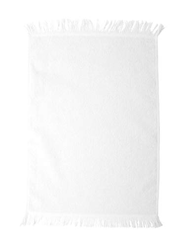 (Towels Plus by Anvil Fringed Fingertip Towel (White) (One))