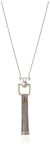 Boho-Chic Vacation & Fall Looks - Standard & Plus Size Styless - Rachel Zoe Sphere Tassel Necklace