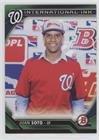 Juan Soto #70/99 (Baseball Card) 2016 Bowman - International Ink - Green #II-JS