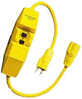 Woodhead 15050-1M Super-Safeway GFCI Molded Plug and Connector, Industrial Duty, Manual GFCI Reset, NEMA 5-15 Configuration, 12/3 SJTW Cord Type, 15A Current, 120V Voltage, 2ft Cord Length