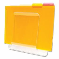 Wholesale CASE of 15 - Deflect-O Wall Mount File & Chart Holder-File/Chart Holder, 1 Compartment, 10''x2''x10-1/2'', Clear