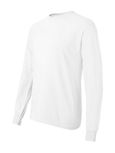 Hanes TAGLESS Long Sleeve T-Shirt WHITE/X-LARGE