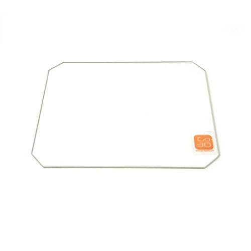 130mm x 160mm Borosilicate Glass Plate Bed Flat Polished Edge w/Corners Cut for Monoprice MP Select Mini 3D Print