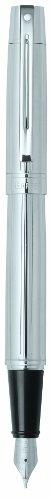 Sheaffer 300 Straight line Chased Chrome Fountain Pen (9326-0)