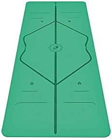 Liforme Original Yoga Mat – Patented Alignment System, Warrior-Like Grip, Non-Slip, Eco-Friendly and Biodegradable, Sweat-Resistant, Long, Wide, 4.2mm Thick mat for Comfort