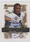 David Irons (Football Card) 2007 SP Rookie Threads - Draft Day Ink (2007 David Irons)