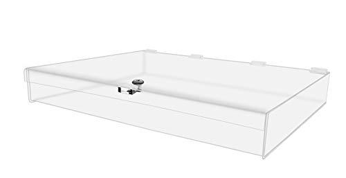 "Marketing Holders - Rectangular Locking Countertop 3-3/4""H x 24"" W x 18"" D | Jewelry Display Case | Swap Meet Tabletop Display | Display Case"