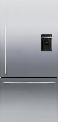 Fisher Paykel RF170WDRUX5 32″ 17.1 Cu. Ft. Capacity Bottom Freezer Refrigerator with Independent Temperature Control LED Lighting Ice and Water Dispenser in Stainless Steel (Right Hand