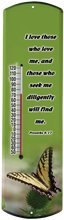 15'' Heritage America Plastic Outdoor Thermometer By Morco, Butterfly