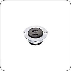 Hubbell HBL7596 AC Flanged Outlet NEMA ML-2R Female Stainless Steel