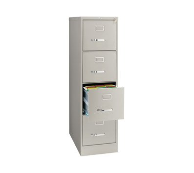 OfficeMax 4-Drawer Commercial Vertical File, 26-1/2