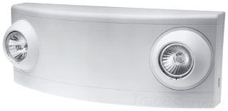 Dual-Lite LZ2 LED Emergency Light, 10W Double Head Low Profile - White