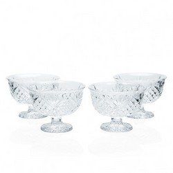 (CRYSTAL GIFTWARE S/4 ALL PURPOSE BOWLS-DUBLIN)