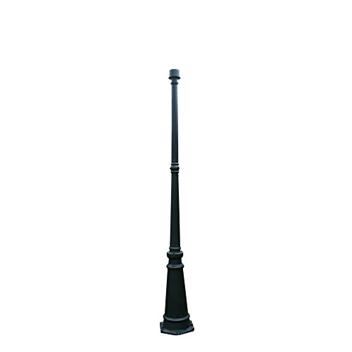 Luxury Black 71.54-in Post Light Pole Lamp Post by Portfolio
