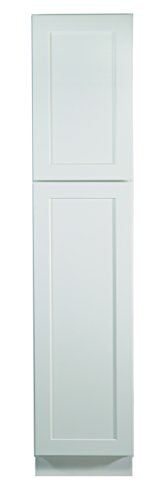 Design House 561787 Brookings 18-Inch Pantry Cabinet, White Shaker