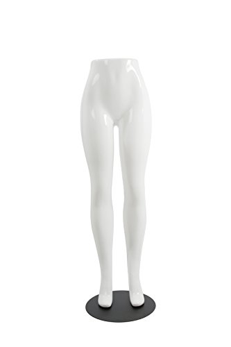 Newtech Display LF02C/SWHT Brazilian Leg Form, Shiny White (Pack of 2) by Newtech Display