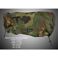 Vortex Media Storm Jacket Cover for an SLR Camera with a Short Lens Measuring up to 9'' from Rear of Body to Front of Lens, Color: Camo