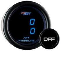 GlowShift Tinted 7 Dual Digital Air Pressure Gauge