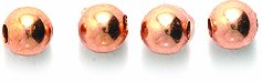 (Shipwreck Beads Metal Copper Smooth Round Bead, 4mm, Metallic, Copper, 200-Piece)