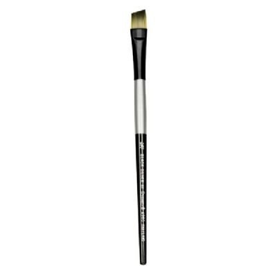 Dynasty Black Silver Blended Synthetic Watercolor Brush Angu