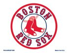 """Boston Red Sox 4x6"""" Color Decals"""