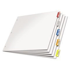 -- Paper Insertable Dividers, 5-Tab, 11 x 17, White Paper/Multicolor Tabs
