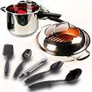 NuWave Cookware Winning Combo Offer Get The Grill Pan + NuWave Pressure Cooker + Bonus 5-Piece Utensil Set. Save Big Today!