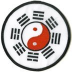 - Tae Kwon Do Yin Yang Round 3 Inch Patch