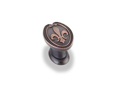 Jeffrey Alexander 959-DBAC Bienville Fleurdelis Knob, Copper