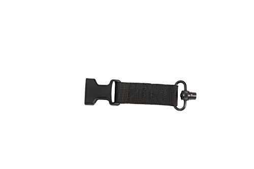 Pigtail Swivel - S2Delta USA Made Sling Connector Assessory (Black, Push Button Swivel)