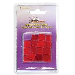 - Jennifer's Mosaics 30 Count Red Mosaic Mirror Tile, Red