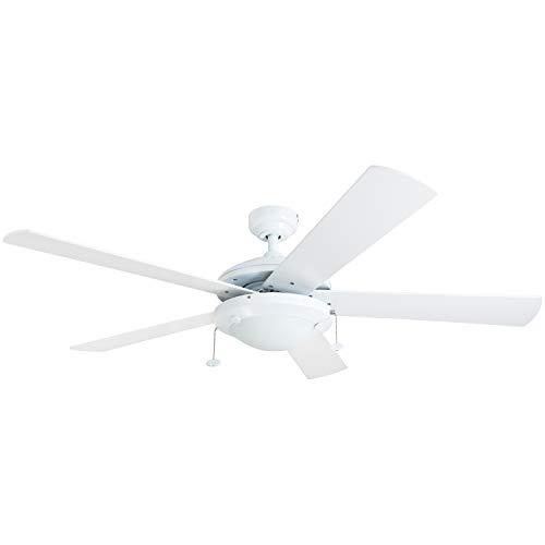 (Prominence Home 80101-01 Bolivar LED Ceiling Fan, Modern Farmhouse, 52
