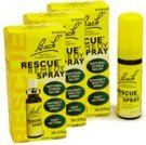 Bach 03PACK Rescue Remedy Natural Stress Reliever Spray (60 mL)