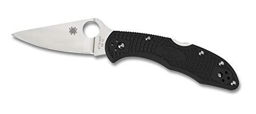 Spyderco Delica 4 Flat Ground Folding Knife - Fiberglass-Reinforced Nylon (FRN) Handle with...