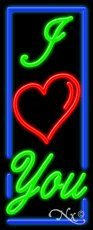 I Love You Business Neon Sign - 32 x 13 x 3 inches - Made in USA