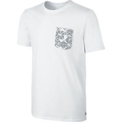 Nike Sb Dri-fit Geo Dye Pocket Tee - White/Wolf Grey Sz Md