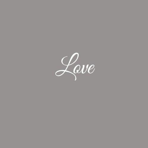 Love ..........: Libro degli ospiti Love Matrimonio Guest book guestbook ospiti decorazioni accessori regalo sposa Matrimonio idee 100 Pagine Bianche 21 x 21 cm Copertina Grigio (Italian Edition)