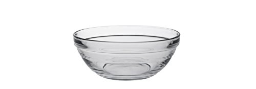 Duralex - Lys Stackable Clear Glass Bowl, 1/2 Quart 5 1/2 Inches Set of ()