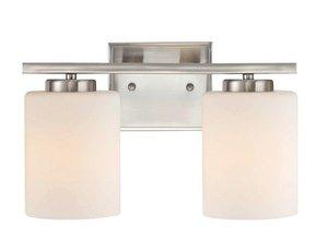 - Dolan Designs 3882-09 Chloe 2 Light bath bar, Satin Nickel