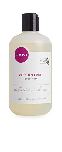 - Moisturizing Body Wash by DANI Naturals - Juicy Passion Fruit Scented - Organic Aloe Vera & Natural Glycerin - Paraben & Sulfate Free Shower Gel - 12 Ounce Bottle