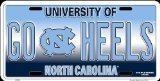 (HangTime GO HEELS UNC Novelty License Plate)