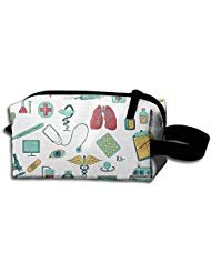 STYH Nurse Medical Science Cosmetic Bag Crazy Student Pencil Case Travel Cosmetic Pouch