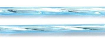Preciosa Ornela Czech Twisted Bugle Glass Bead, 30mm, Silver Lined, Aqua, 80 gm/Pack