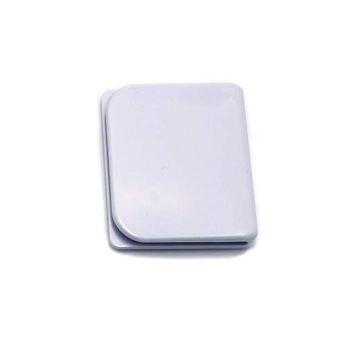 DGQ Shower Curtain Splash Guard Clip Windproof Self Adhesive Curtain Clips - White (White, 2)