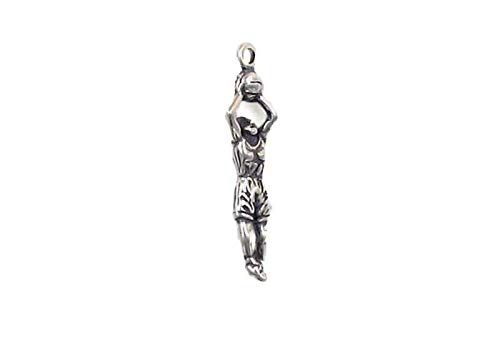 Pendant Jewelry Making/Chain Pendant/Bracelet Pendant Sterling Silver 3-D Girl Basketball Player Charm