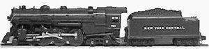 LIONEL TRAINS NEW YORK CENTRAL HUDSON LOCOMOTIVE AND TENDER 8406